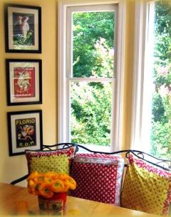 Provencial style breakfast nook, Cary NC with walls in Benjamin Moore Straw